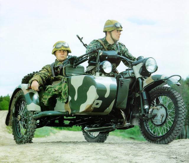 Мотоцикл Урал военный с консервации #4